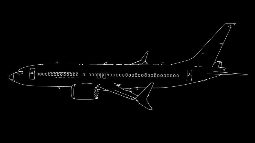 Drawing airplane in animation 4k | Shutterstock HD Video #1040677604