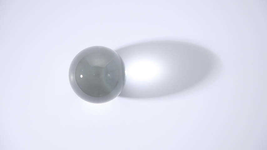 Crystal Ball Marbles glass transparent on white background #1040811434