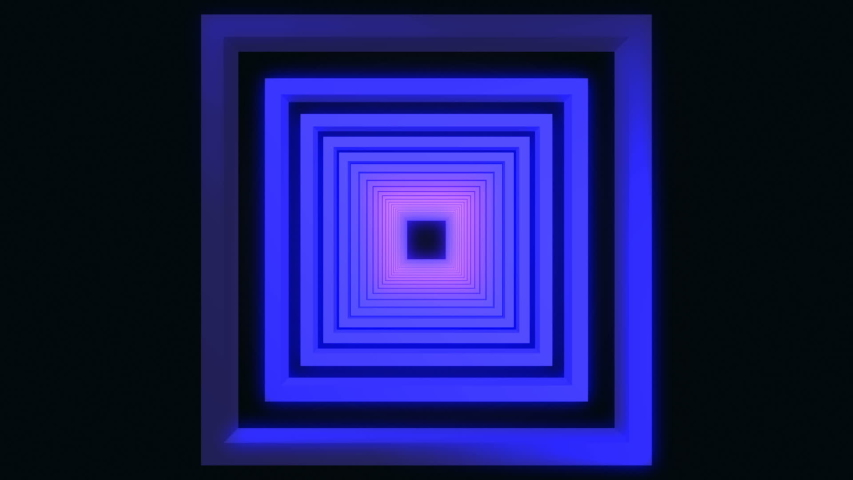 Neon abstract square tunnel. background | Shutterstock HD Video #1040897474