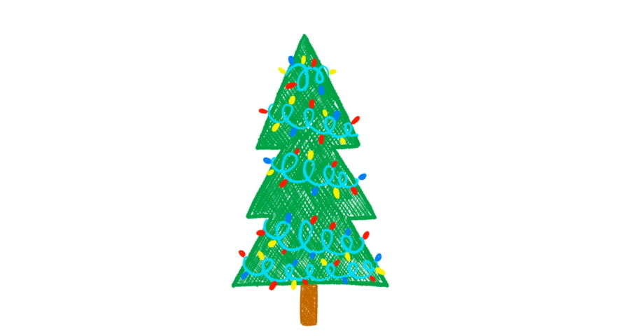 Hand drawn Christmas tree animation | Shutterstock HD Video #1041137764