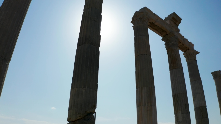 The ancient city of Laodicea. From SKY.  | Shutterstock HD Video #1041399304