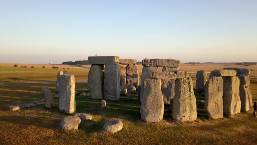 Stonehenge/England   Aerial video from Stonehenge , a famous landmark in England     taken by drone camera | Shutterstock HD Video #1042132294