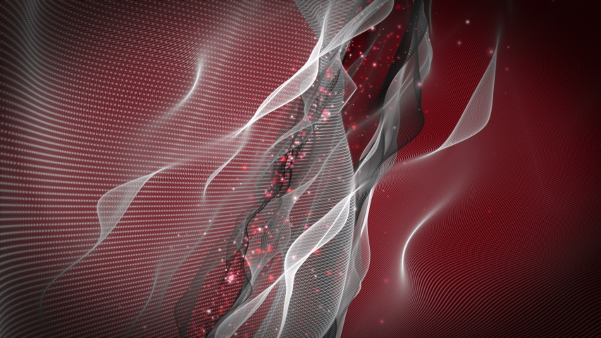 Romantic video animation with wave object and glitter particles in slow motion, 4096x2304 loop 4K | Shutterstock HD Video #1042231324