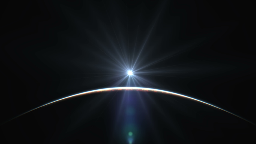 Sunrise from space abstract 4k | Shutterstock HD Video #1042274164