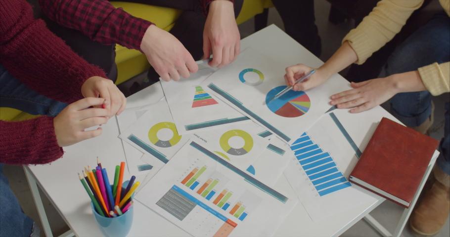 Freelance team brainstorming at creative | Shutterstock HD Video #1042522564