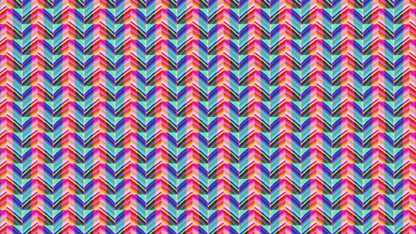 Hypnotic ornamental sci-fi psychedelic holographic background. Old TV effect. Loop footage. | Shutterstock HD Video #1042523494