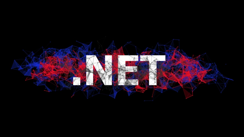 .NET framework for building web apps banner with colorful plexus design. Software technology animation. Online courses of coding. Website development, front end engineering design. | Shutterstock HD Video #1042791964