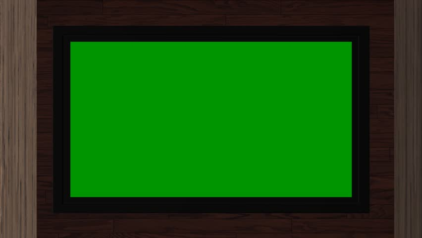TV with a green screen in the room, 3d animation | Shutterstock HD Video #10439774
