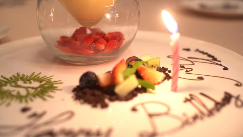 Close up of Thai style birthday celebration   Shutterstock HD Video #1044894484