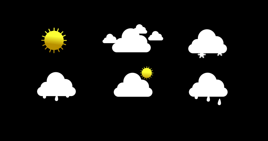 Weather forecast animation graphics with alpha channel   Shutterstock HD Video #1044941854