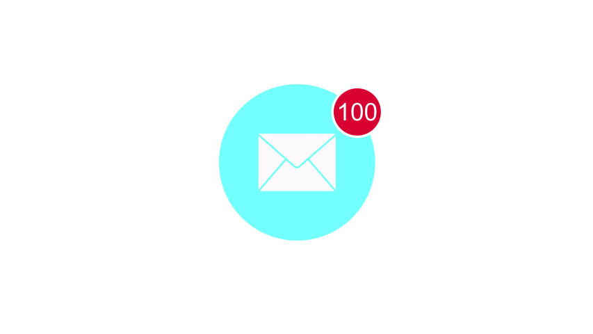 Animation of  email icon with counting number.  | Shutterstock HD Video #1045179904