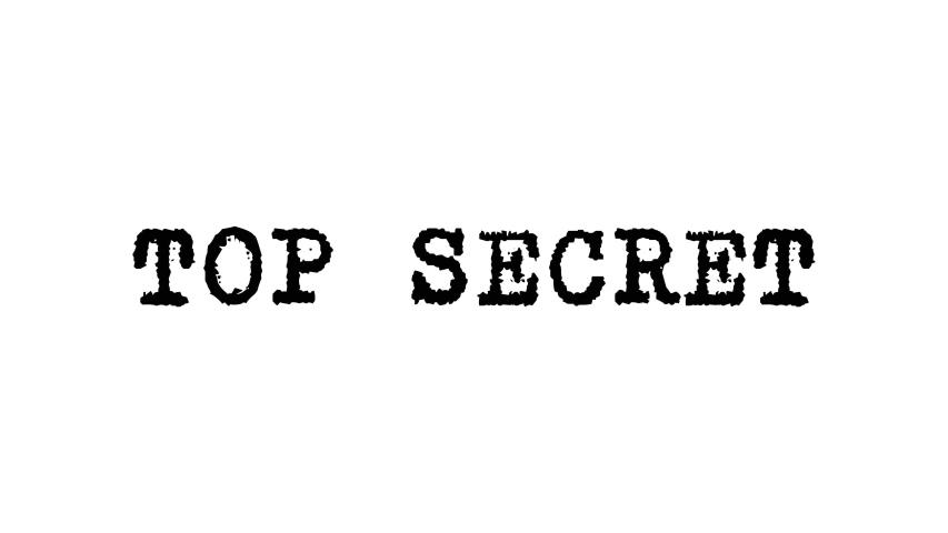 TOP SECRET Text Animation. Top Secret typed words  like on a Vintage Typewriter  Alpha Channel, 4k  | Shutterstock HD Video #1045775704