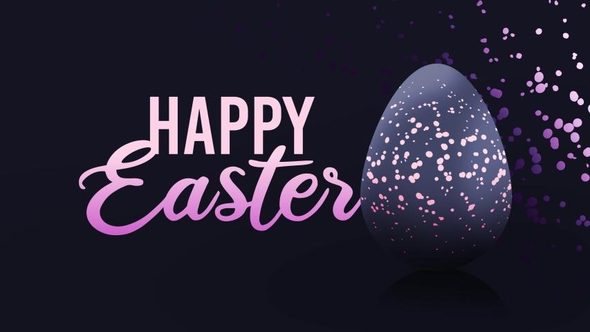 Happy Easter 2020 Elegant Background Stock Footage Video 100