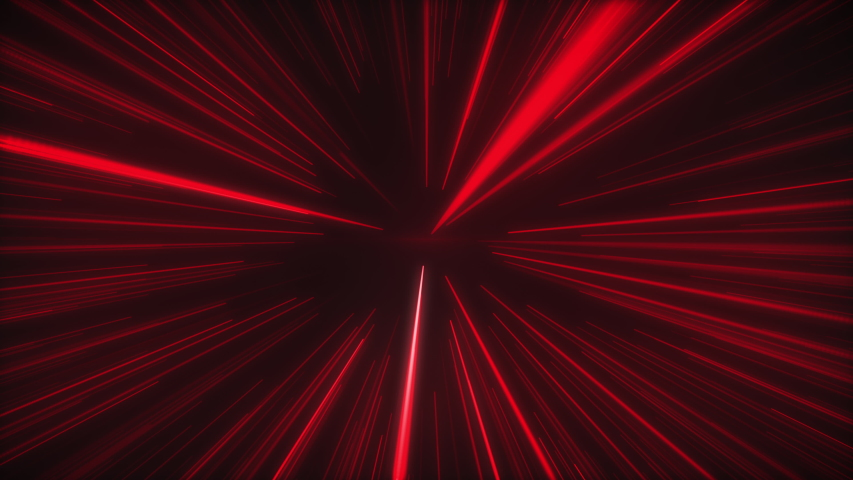 Hyperjump through space with red star light speed, 4k Resolution. | Shutterstock HD Video #1046873104