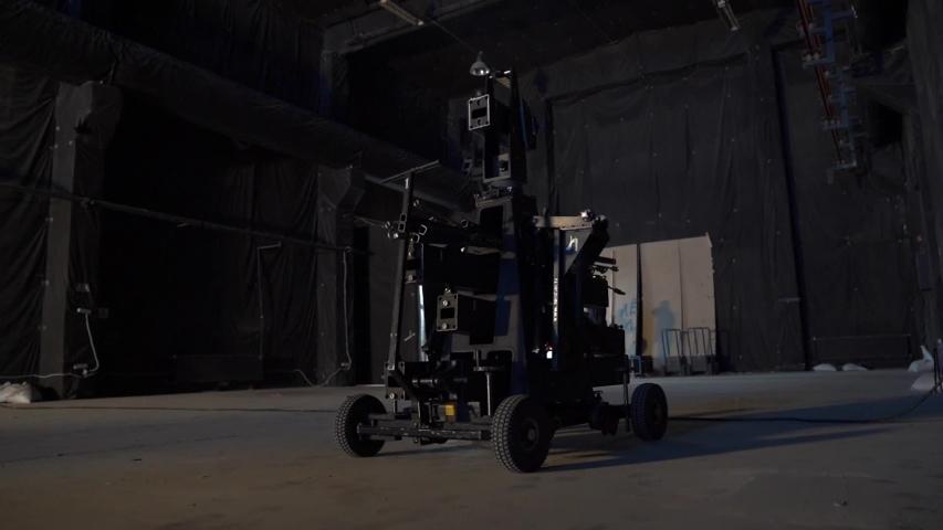 Dolly camera film equipment professional studio video production tools camera movement | Shutterstock HD Video #1046888764