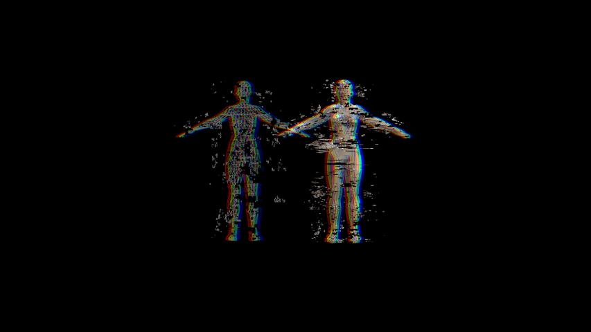 HUD technological template. Female glitch effect hologram.Futuristic Sci Fi background. | Shutterstock HD Video #1046890474