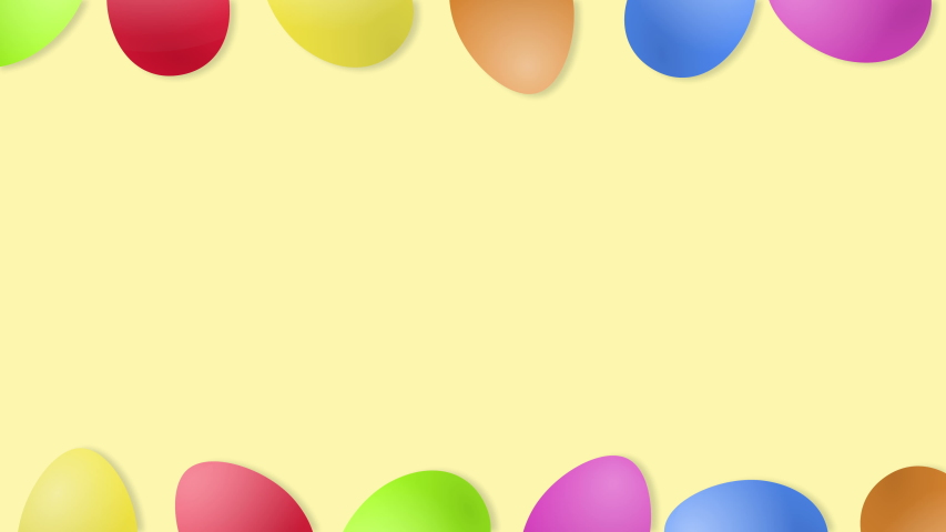 Beautiful Easter background with rolling eggs and copy space, loop. | Shutterstock HD Video #1046901664