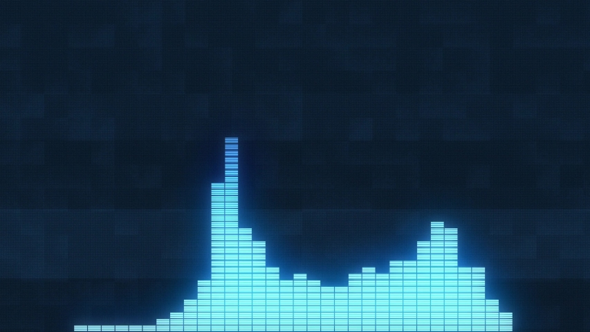 Sound waves in blue sound wave form music visualizer | Shutterstock HD Video #1046969494