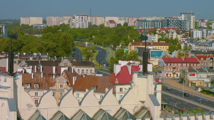 Summer panorama of city of Lublin in Poland, Europe - high quality stock footage   Shutterstock HD Video #1047154924