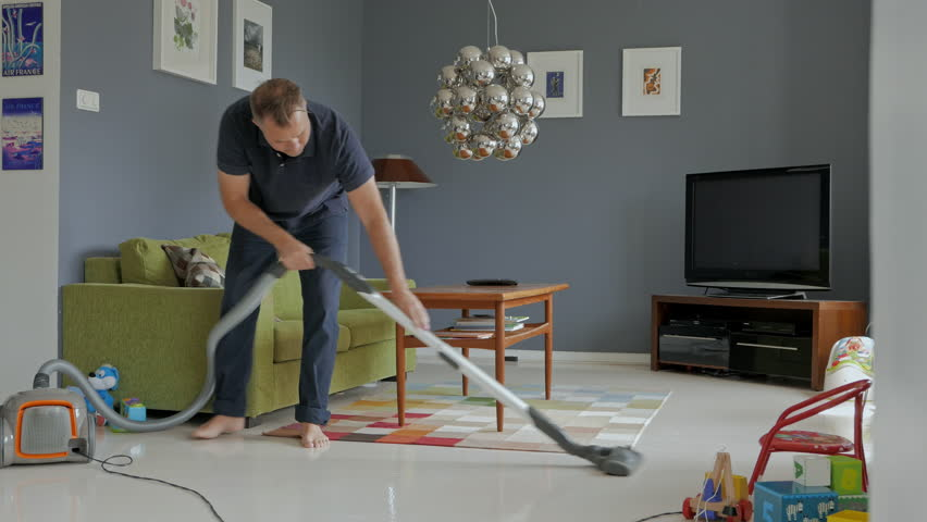 Man Cleaning House With Vacuum Stock Footage Video (100% Royalty Free)  10477994 | Shutterstock