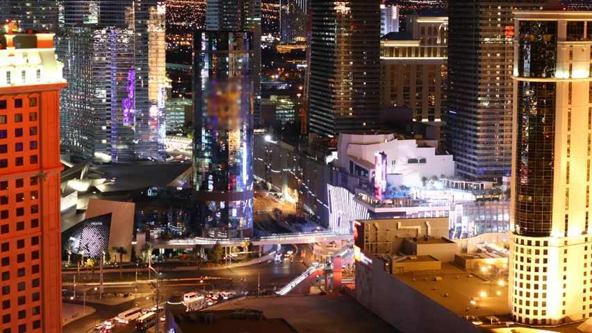 Time lapse Las Vegas Strip at night