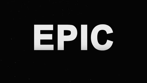 Animation Epic Logo for Trailers. Powerful Titles with Effects on Black