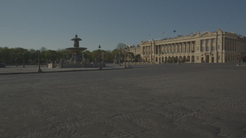 Concorde Vide Paris Coronavirus Confinement | Shutterstock HD Video #1049307304