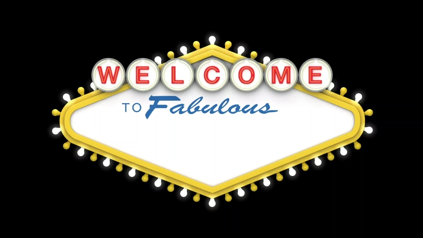 Welcome to Fabulous sign in classic retro las vegas style design . 3D Render | Shutterstock HD Video #1049445124