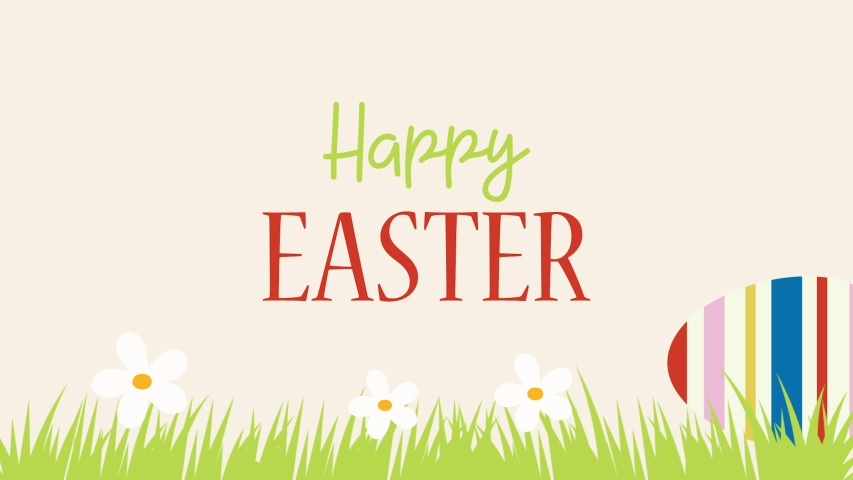 Happy Easter Drawing Colourful 4K Loop Animation.  Easter Greetings Animated Footage    Shutterstock HD Video #1049510284