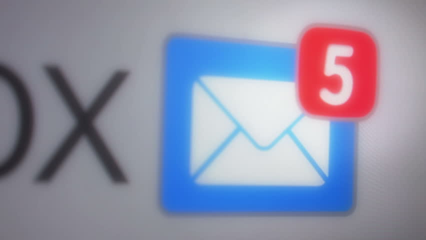 Close up of e-maill inbox with multiple messages appearing in the mailbox | Shutterstock HD Video #10497008