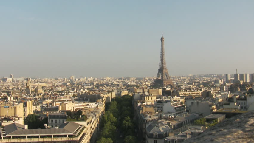 Eiffel Tower the most famous attraction in Paris, panorama over Paris city | Shutterstock HD Video #10531664