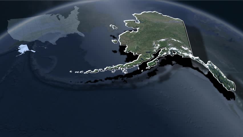Alaska animation map Political divisions of the United States