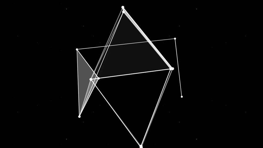 4k Disco Hypnotic Light Centerd Vj Loop Disco Effect: Geometric Spiral White Triangles Abstract Motion Black