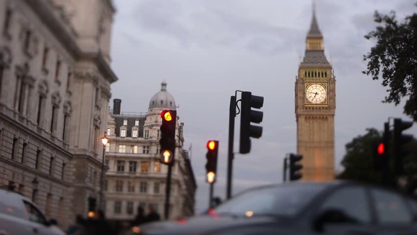 Big Ben Parliament square London dusk