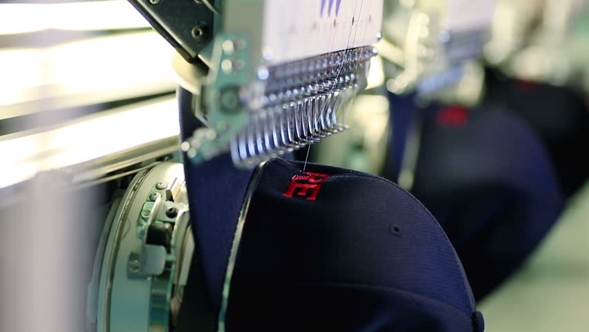 Industrial Embroidery Machine Embroidering Hat