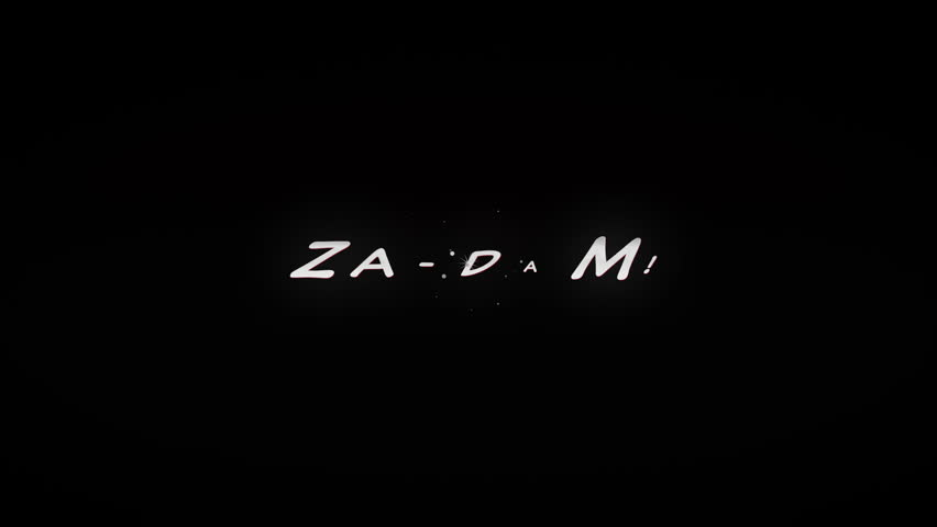 ZA-DAM!4K Animated comic style action word with tiny particles and cartoony explosion. Black and Red look. | Shutterstock HD Video #10672784
