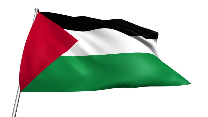Sudan flag slowly waving white background seamless loop stock footage video 985930 shutterstock - Palestine flag wallpaper hd ...