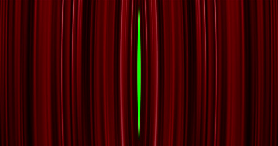 High quality perfectly red curtain opening movement background. Green screen included. 4K Resolution Ultra HD | Shutterstock HD Video #10711664