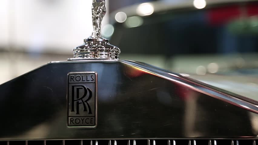 UKRAINE, KIEV, SEPTEMBER 7, 2012: Rolls Royce at yearly automotive-show in Kiev, Ukraine