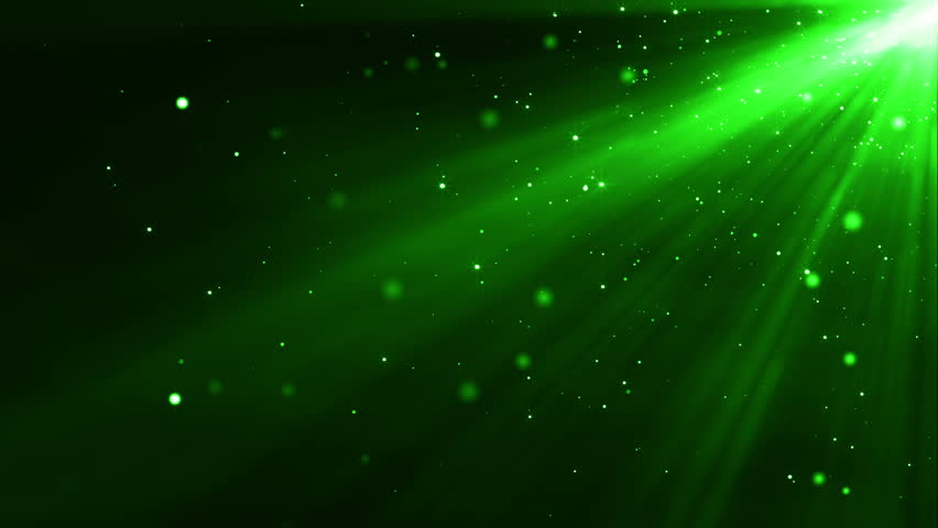 Green Light Effects Stock Footage Video: Videoclip De 4k Green Particles Light Stream Animation