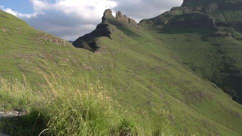 Amphitheatre area of Drakensberg mountains,Kwa-Zulu-Natal,South Africa