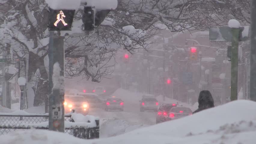Owen sound, Ontario, Canada January 2015 Heavy snow storm in city  | Shutterstock HD Video #10882151