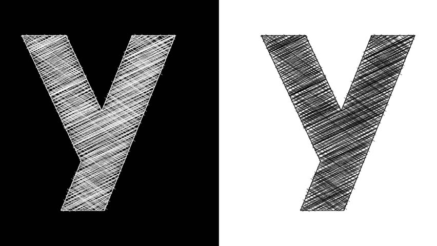 Stock video of art sketched letter y with alpha 10895084 stock video of art sketched letter y with alpha 10895084 shutterstock thecheapjerseys Images
