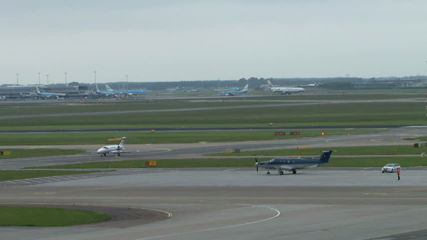 Airport planes on runway traffic | Shutterstock HD Video #10911014