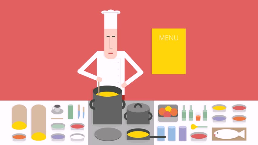 Cook In The Kitchen Chef Stock Footage Video 100 Royalty Free 10918694 Shutterstock