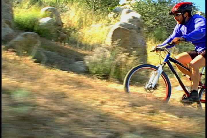 male mountain biker