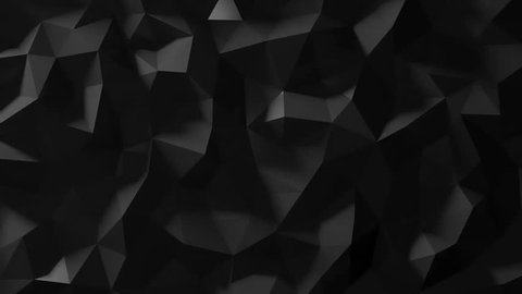 Black Low Poly Abstract Background. Seamlessly Loopable.