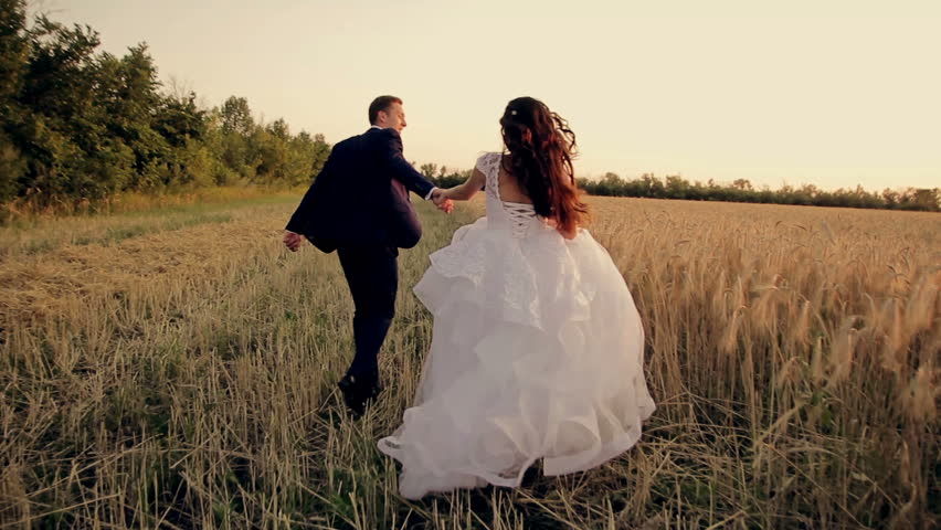 Fantastic Bride And Groom Running On Stock Footage Video 100 Royalty Free 11038304 Shutterstock Download Free Architecture Designs Scobabritishbridgeorg