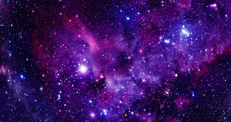 Flying Through Stars and Nebulae - 4K - Purple