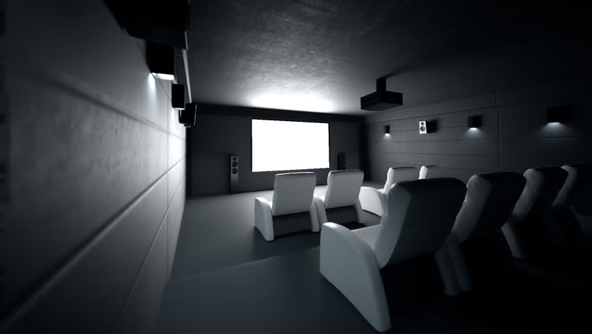02352 Luxury Home Theater Room With Recliner Chairs #11095397